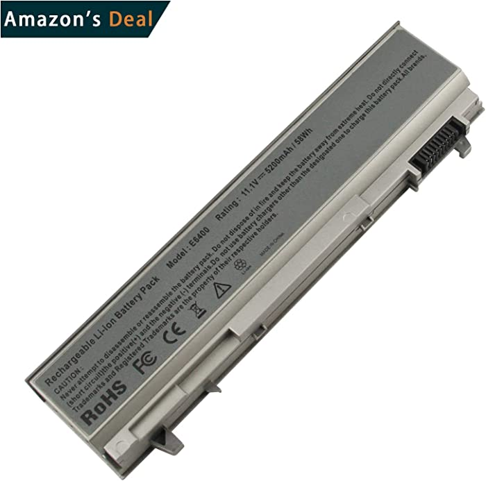 AC Doctor INC PT434 Battery for Dell Latitude E6400 E6500 Precision M2400 M4400 Laptop Battery Replacement 6-Cell