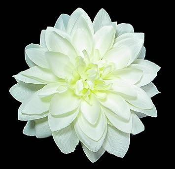 Amazon large ivory white dahlia hair flower clip beauty large ivory white dahlia hair flower clip mightylinksfo