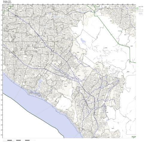 Irvine Zip Code Map Amazon.com: Working Maps Irvine, CA Zip Code Map Laminated: Home