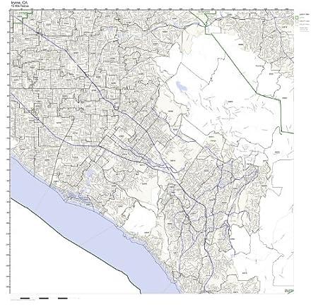 Amazon.com: Irvine, CA ZIP Code Map Not Laminated: Home ...
