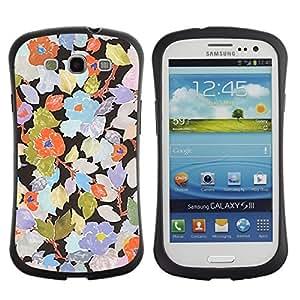 "Pulsar iFace Series Tpu silicona Carcasa Funda Case para SAMSUNG Galaxy S3 III / i9300 / i747 , Rustic Art Wallpaper floral"""