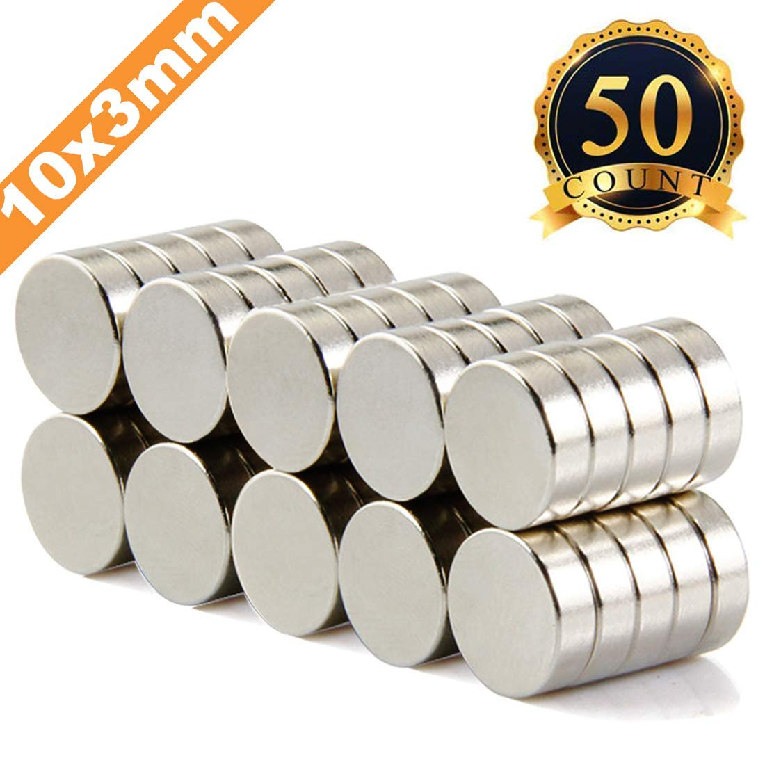 FINDMAG 50Pieces 10X3mm Premium Brushed Nickel Pawn Style Magnetic Push Pins,Fridge Magnets, Office Magnets, Dry Erase Board Magnetic pins, Whiteboard Magnets,Refrigerator Magnets