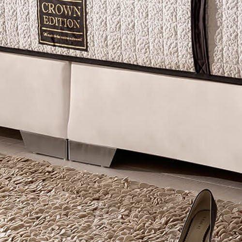 London Cama con somier Deluxe (200 x 200 cm), color blanco ...