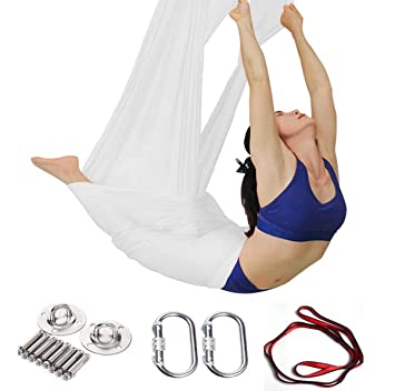 DSAEFG Seda Yoga, Equipo de Sedas Aéreas Aéreo Yoga Toalla ...