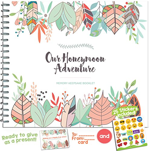 THE PERFECT HONEYMOON GIFT - Unconditional Rosie Honeymoon Memory Journal with Matching Card and Emoji - Favorite Vacation Destination