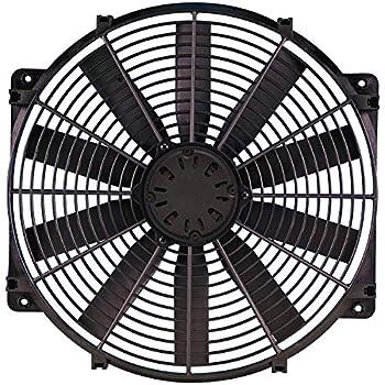 Image of Fans Flex-a-lite 118 Black 16' LoBoy Electric Fan (puller)