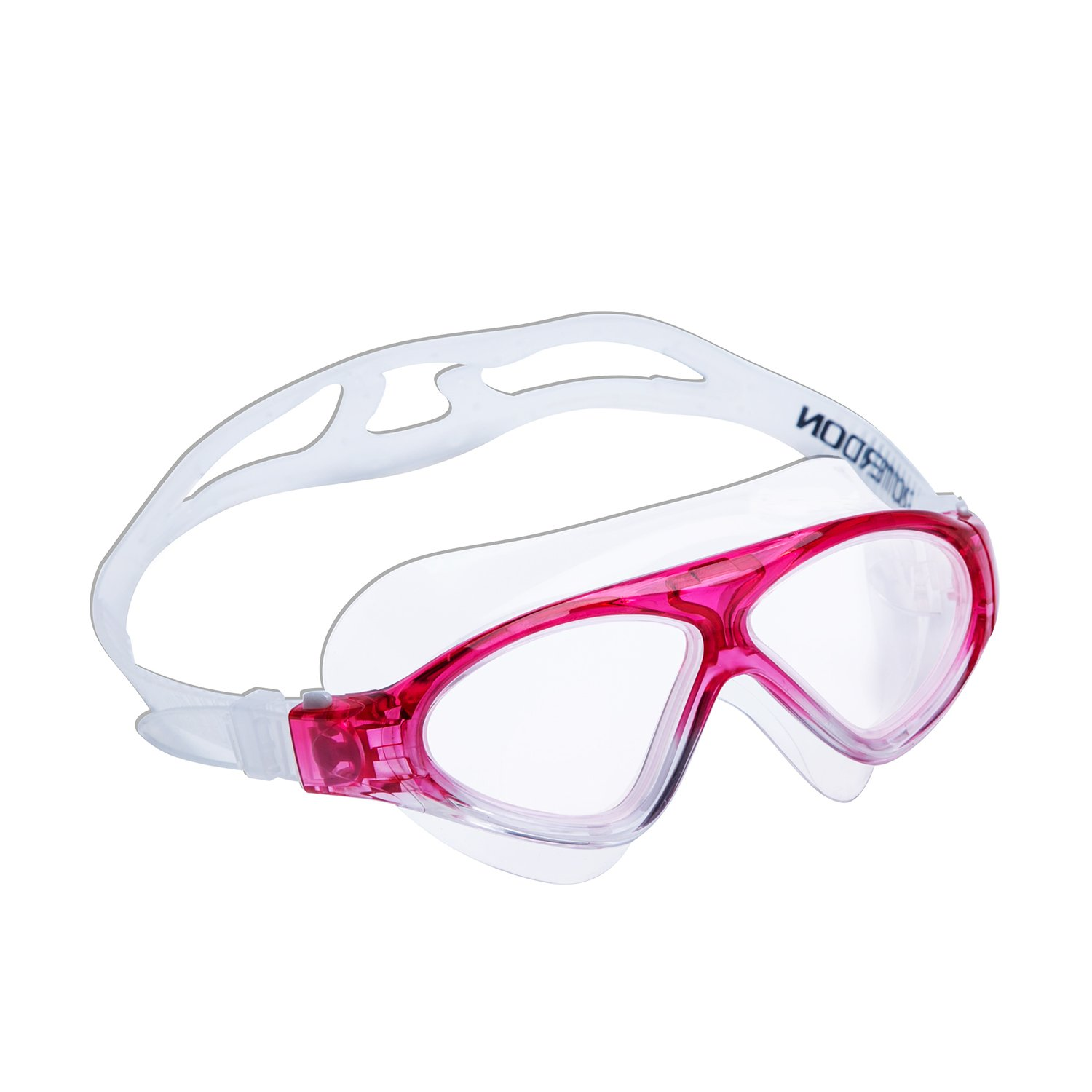Wide View Swimming Goggle Anti Fog UV Protection No Leaking Glasses for Adult Men Women Youth Kids ROTERDON Swim Mask