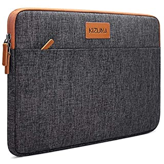 """KIZUNA Laptop Sleeve 14 Inch Water-Resistant Shockproof Notebook Case Portable Carrying Bag for 14"""" Lenovo Flex 4/Thinkpad L480 T480s/Chromebook S330/HP ProBook 640 645 G4/ProBook 440 G6/Dell, Grey"""