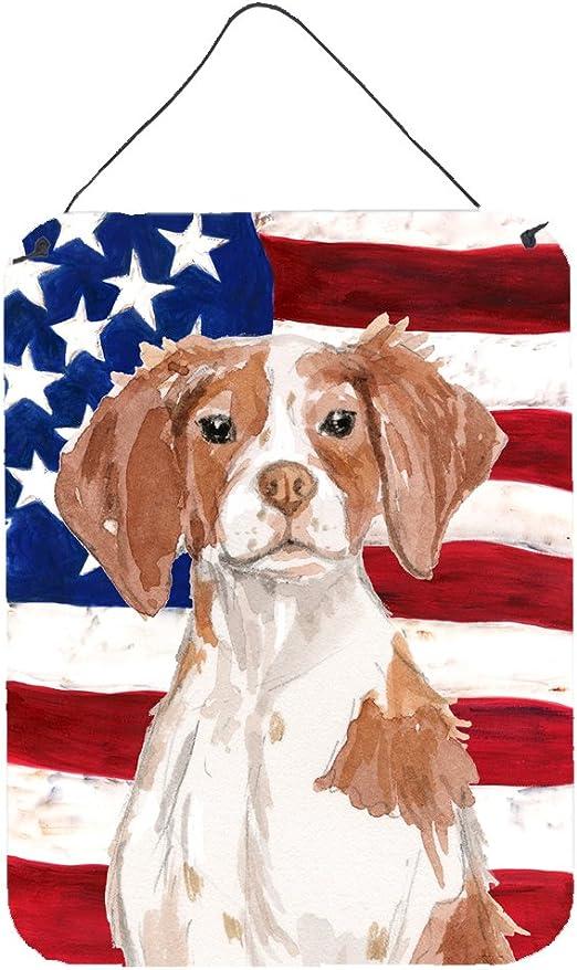 Multicolor Carolines Treasures USA American Flag with Beagle Aluminium Metal Wall or Door Hanging Prints 16 x 12