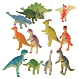 Plastic Model Jurassic Dinosaur Figures Kids Toy Set of 12pcs Multi-color