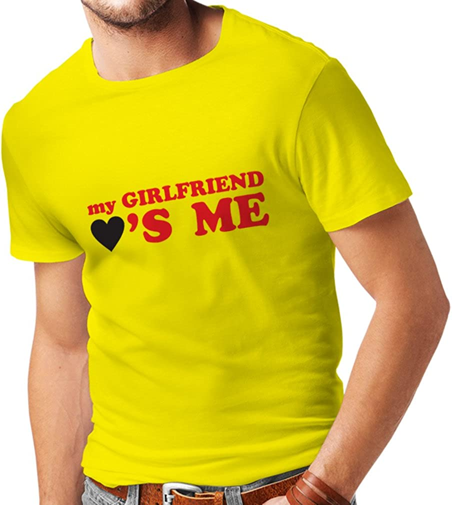 Camisetas Hombre Mi Novia me ama Regalos Novio para San Valentín