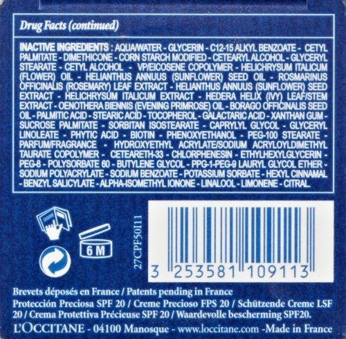 Amazon.com: L\'Occitane Immortelle Precious Protection SPF 20, 1.7 oz ...