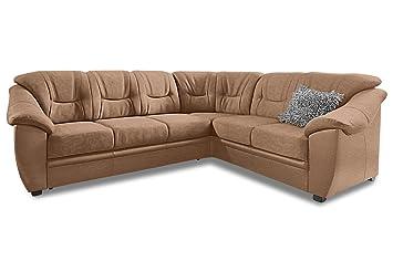 Sofa Couch Rundecke Braun Mit Federkern Amazonde Küche Haushalt