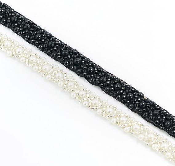 5 Rolls 91cm Stripe Knit Lace Ribbon Motif Sewing Clothing Applique Ribbon