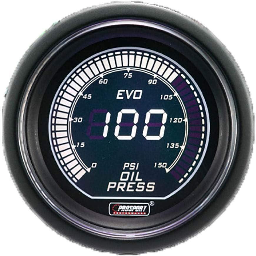 Prosport 52mm Blue//White Gauge Kit Boost Oil Pressure Water Temperature