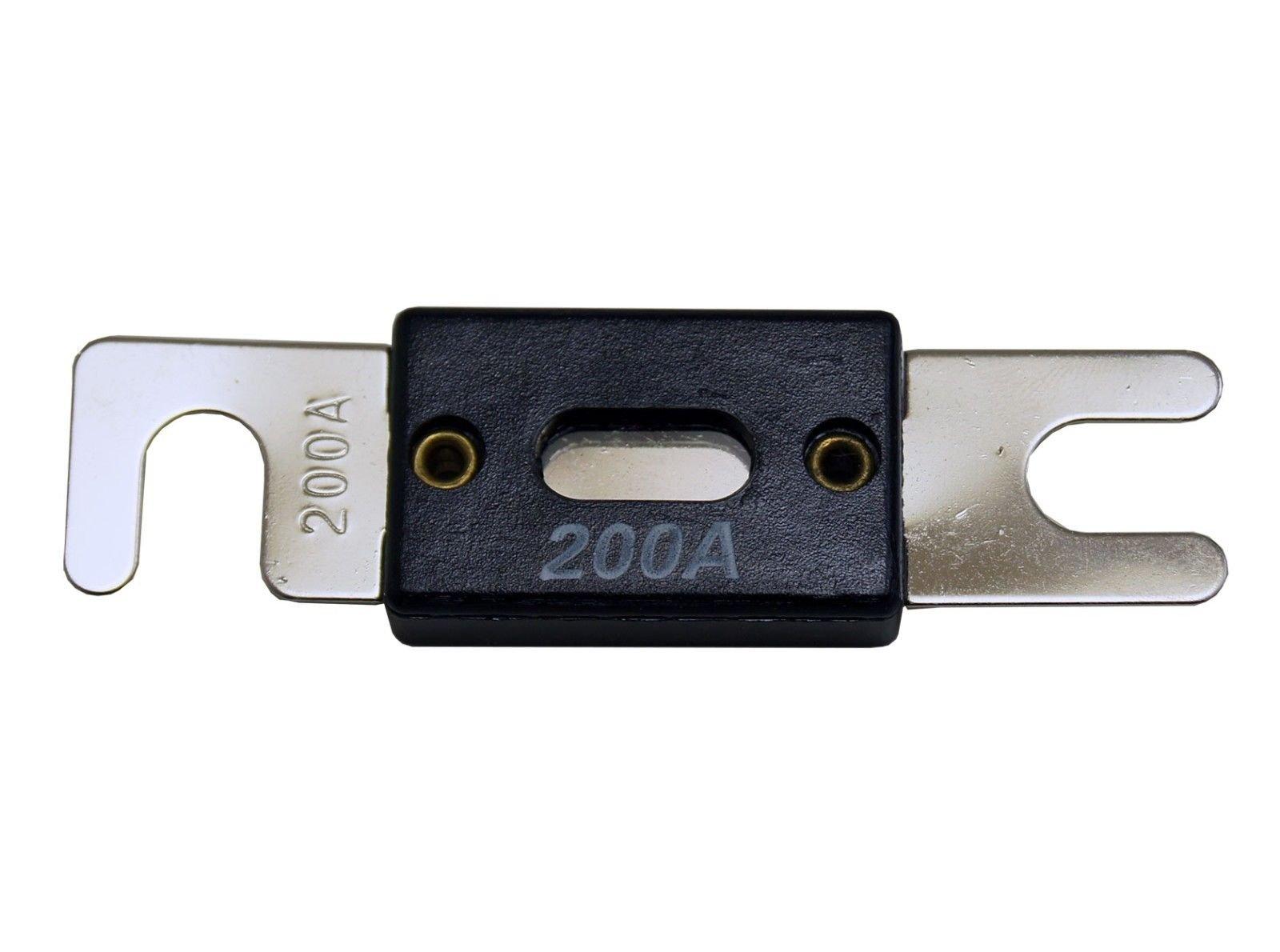 VOODOO 200 Amp ANL Fuse Brushed Nickel Holder 2/0 or 1/0 0 Gauge w/ 45 Deg Angled Cover by VOODOO (Image #7)