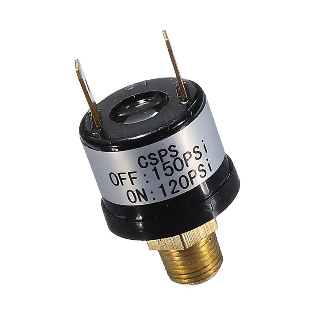 Sharplace Interrupteur de Pression d'Air Pressostat à Pression 12V 120PSI~150PSI