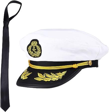 Amosfun Capitán Sombrero y Corbata Uniforme de Marinero Disfraz ...