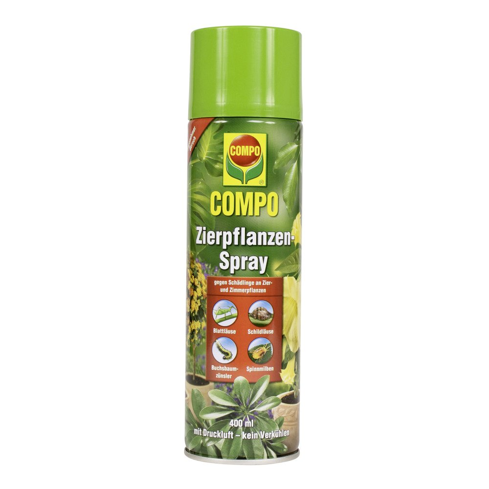 Compo ornamental plant spray, insecticide spray with a wide range of efficacy for all ornamental plants, among others, against aphids, leaf beetles, spider mites and scale insects, 400 ml. 21549