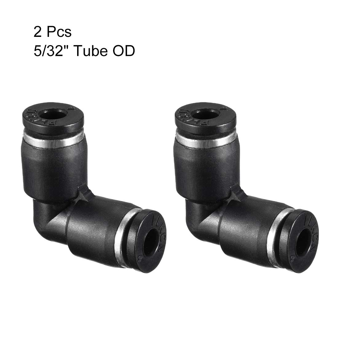 uxcell 10 x Pneumatic 6mm to 6mm One Touch Connectors 90 Degree Elbow Quick Fittings