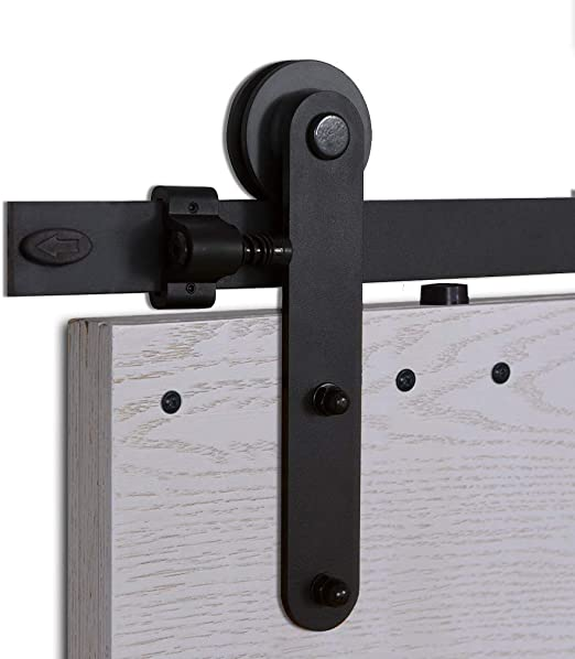 200cm Quincaillerie Kit de Rail Hardware Porte Coulissante Ensemble Industriel pour Porte Suspendue Yaheetech 6.6ft