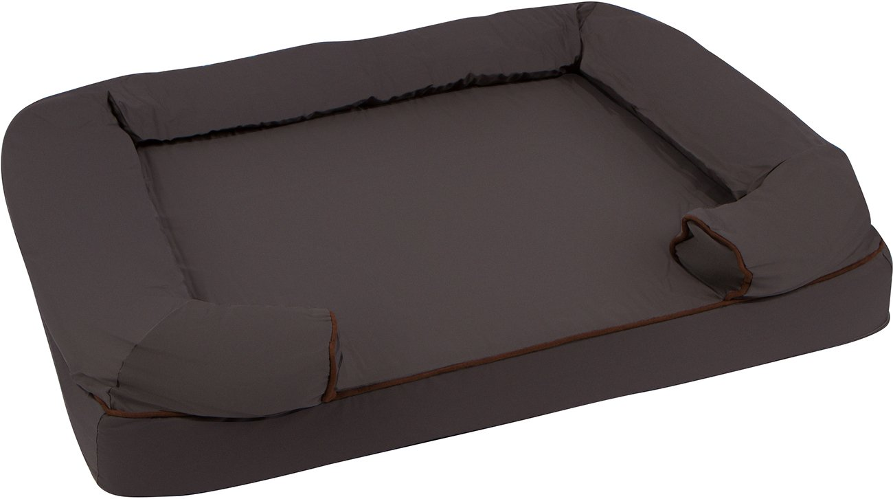 36 L x 25 W Large Bolster Pet Bed Orhopedic Lounger with Memory Foam and Zippered Cover by Trademark Innovations