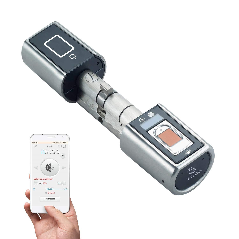 WE.LOCK Impronta Digitale Biometrica e Bluetooth Smart Door Lock per Telefono Open in Keyless