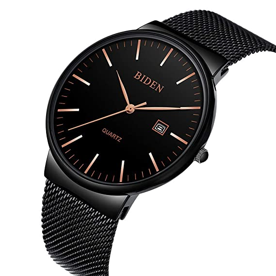 Amazon.com: Watch, Mens Fashion Stainless Classic Casual Watch with Milanese Mesh Band,Waterproof Casual Analog Quartz Dress Wrist Watch: Watches