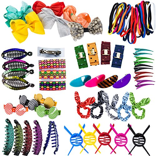 CoverYourHair Hair Accessories for Girls - 10 Pc. Hair Ties