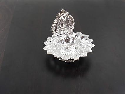 GoldGiftIdeas Lakshmi Diya Pooja Thali Set, Pooja Items for Home, Small  Home Function Return Gift, Wedding Return Gift