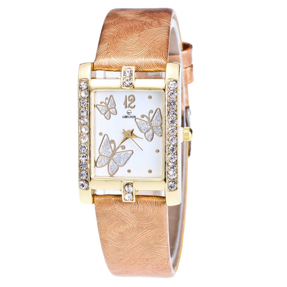 e28ad13b41 Amazon.com: Retro Lady Candy Womens Watches Vickyleb Clearance Quartz  Female Watches on Sale Comfortable Leather Lady Watches: Watches