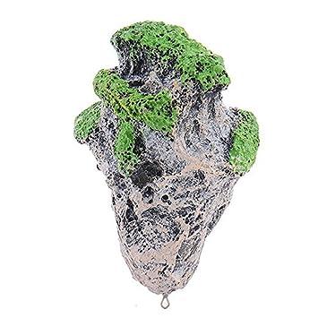 Decoración del acuario de OWIKAR Tanque de peces rocas flotantes Piedra suspendida cubierta con decoración artística