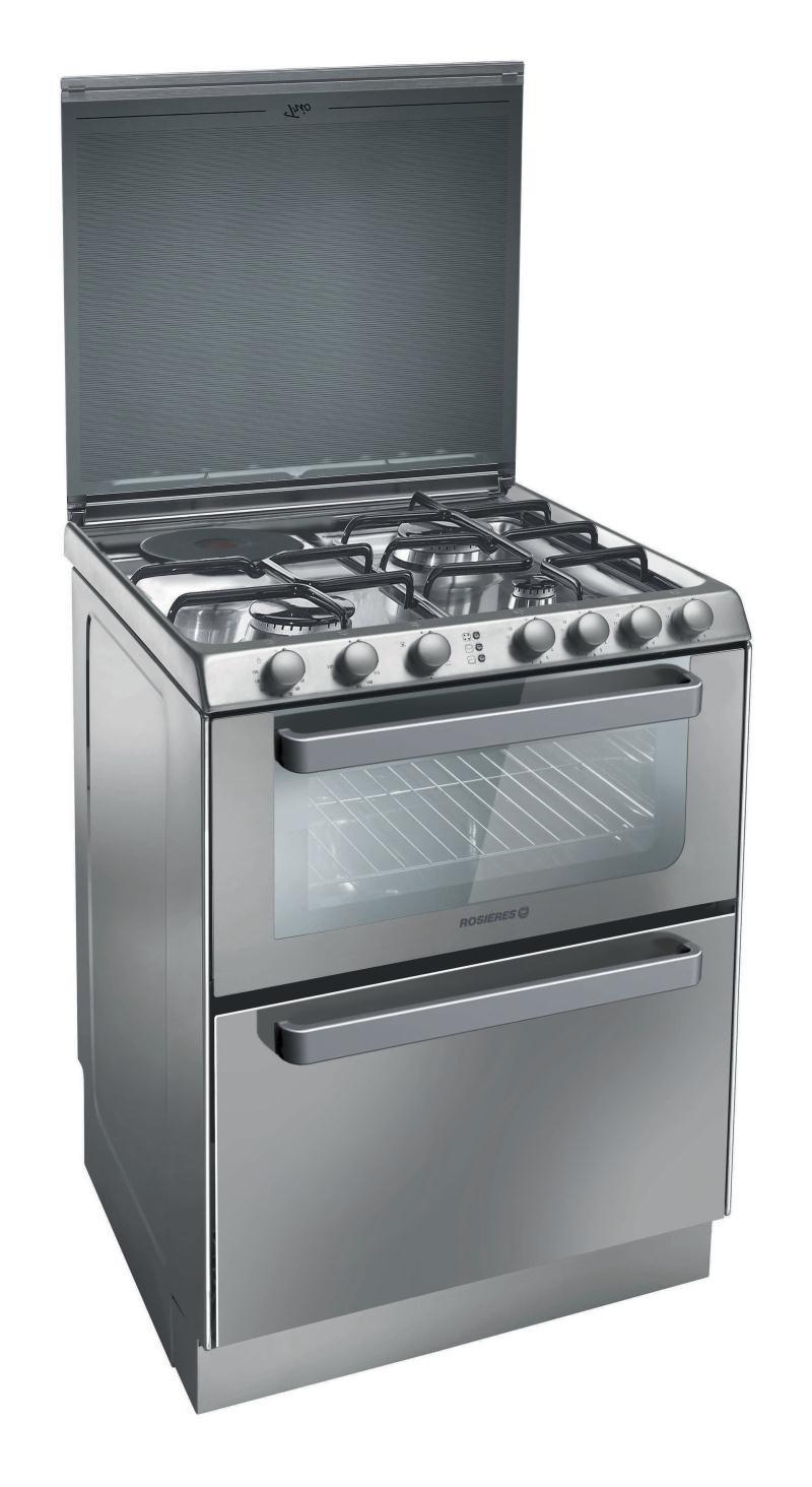 Rosieres TRM 60 IN appareil de cuisine combi - appareils de cuisine combi (Acier inoxydable, Electrique, Gaz, A, A, A) [Classe énergétique A]