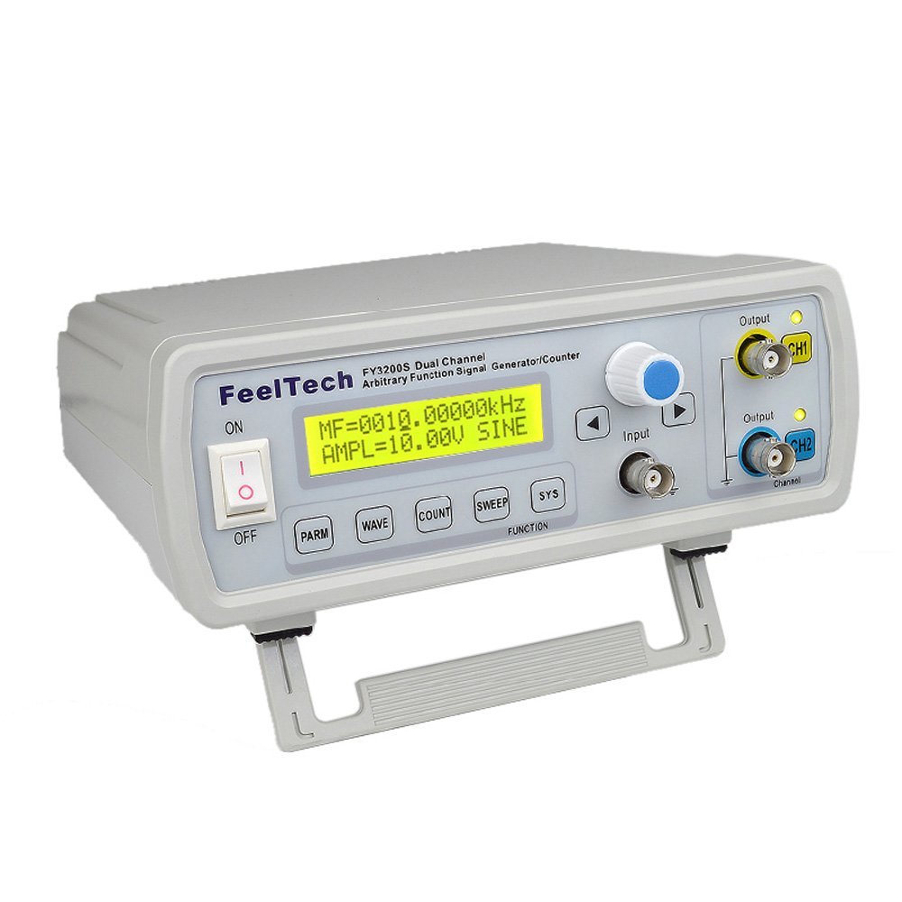 KKmoon High Precision Digital DDS Dual-channel Function Signal Source Generator Arbitrary Waveform//Pulse Frequency Meter 12Bits 250MSa//s Sine Wave 24MHz Signal Generator