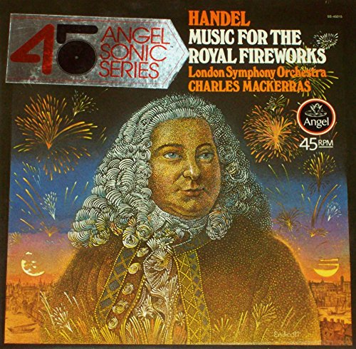 HANDEL Music For The Royal Fireworks LP audiophile ANGEL SONIC quadraphonic QUAD NM Mackerras London Symphony Orchestra