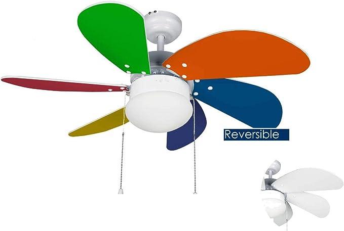 Bastilipo - Ventilador de techo con luz modelo CALELLA: Amazon.es ...