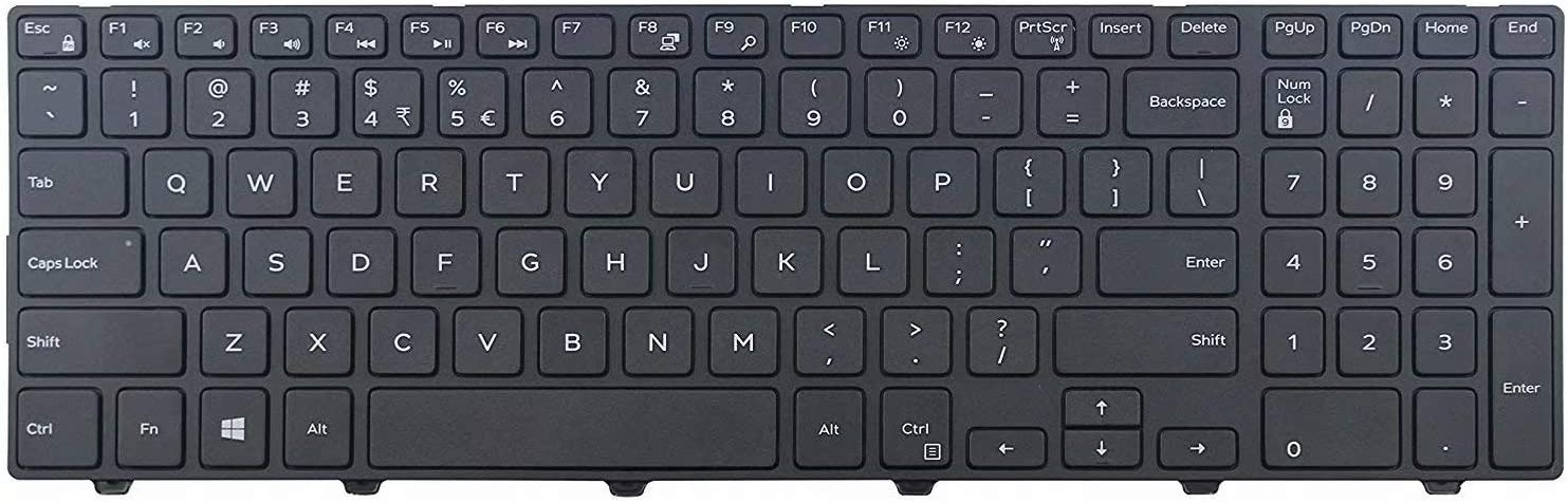 US Layout Non Backlit Givwizd Laptop Replacement Keyboard Compatible for Dell Inspiron Model P40F