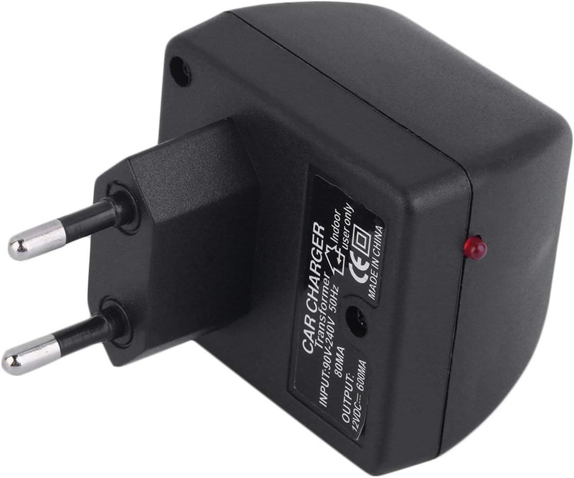 Lorenlli Adaptateur de convertisseur de Courant de Voiture 220V /à CC 12V Chargeur Jack Socket allumeur Pratique /électrique la Maison