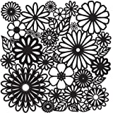 CRAFTERS WORKSHOP TCW-157 Templates 12-Inch by 12-Inch, Flower Frenzy