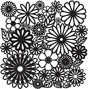 Crafter's Workshop Templates 12-Inch by 12-Inch, Flower Frenzy