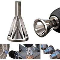 FunMove .dghf desbarbador externo para desbarbar, herramientas de fresado para broca de acero inoxidable, elimina el extractor dañado, plata, se adapta a tornillos de tamaño 8 – 32