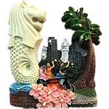 Singaporeマーライオンシンガポール世界 3D 樹脂冷蔵庫マグネット コレクション 光る旅行 お土産 観光客 ギフト 家庭 キッチン 装飾 磁気ステッカー