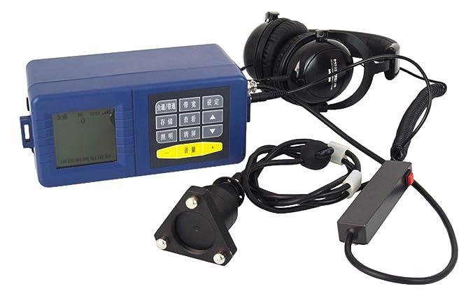 VTSYIQI VTS-2000 Detector de fugas de agua de alta precisión con detección de fugas de tubería subterránea con análisis de frecuencia ancho de banda 70 a ...
