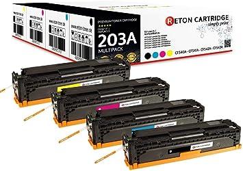 4 Original Reton Toner Kompatibel Zu Hp 203a Cf540a Cf541a Cf542a Cf543a 1 Schwarz 1 Cyan