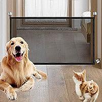 Nifogo Magic Gate Dog, Barrera de Seguridad para Perro, Plegable Portátil Puerta de Seguridad Aislada para Perros y Mascotas,Security Negro(110 x72cm): Amazon.es: Productos para mascotas