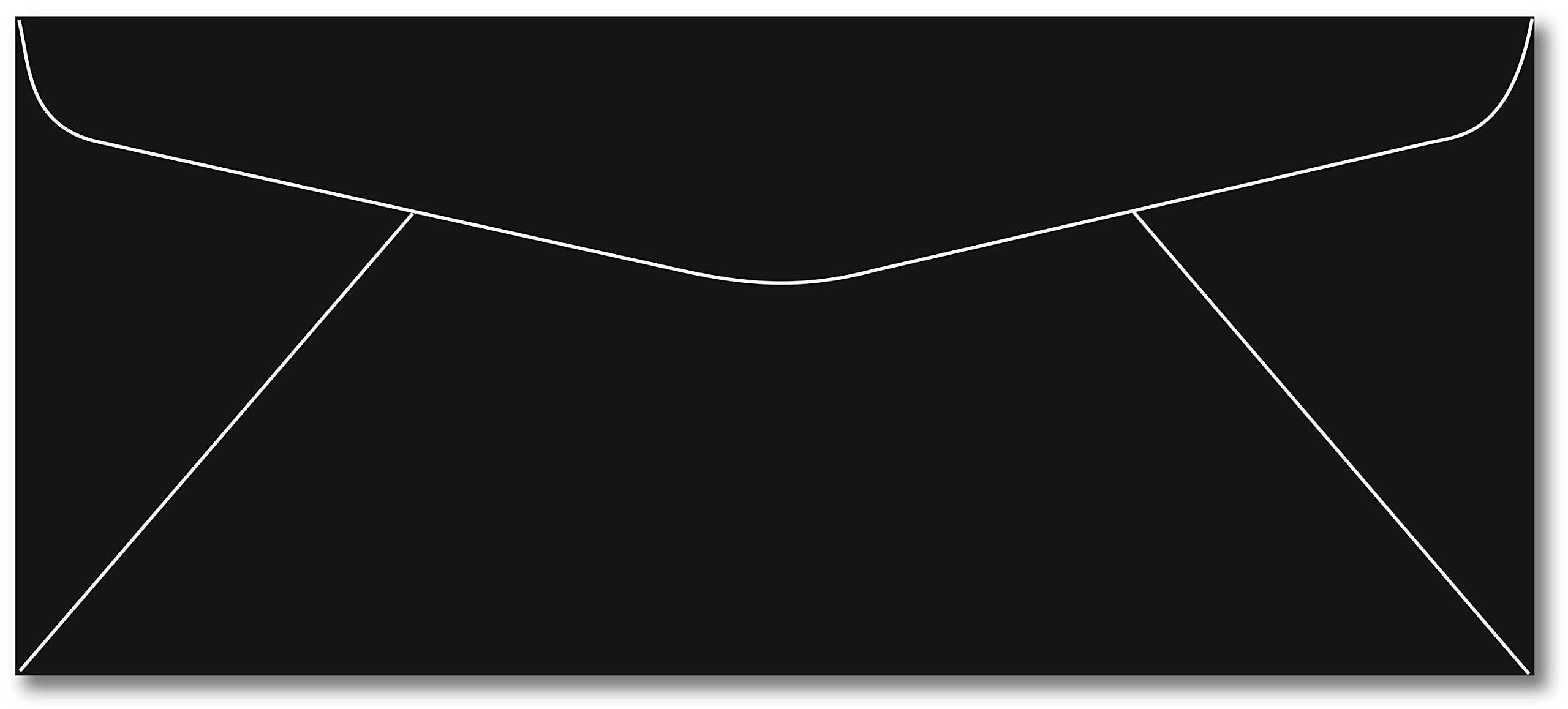 Black #10 Business Size Envelopes - 50 Envelopes
