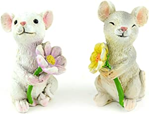 Touch of Nature 55743 Fairy Garden Mice, 2""