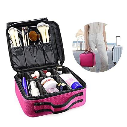 Bolsa de maquillaje neceser de viaje con separadores ...