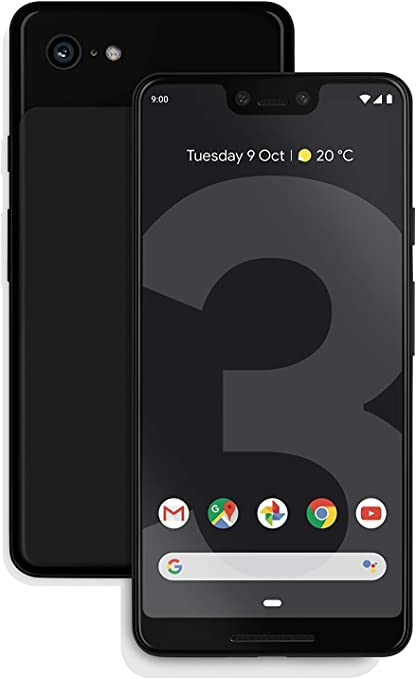 Google Pixel 3, 64 GB, Black, SIM Free (reacondicionado).: Amazon ...