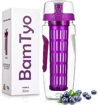 BamTyo 32 oz.Fruit Infuser 2-in-1 Sport Water Bottle